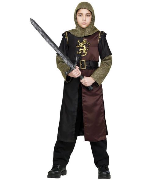 Valiant Knight Medieval Crusader Costume Child Boy's Small Halloween Ren Faires