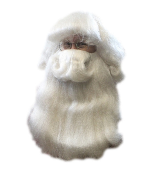 Santa Claus Wig & Beard Deluxe Costume Set Mr. Claus Costume Accessory St. Nick
