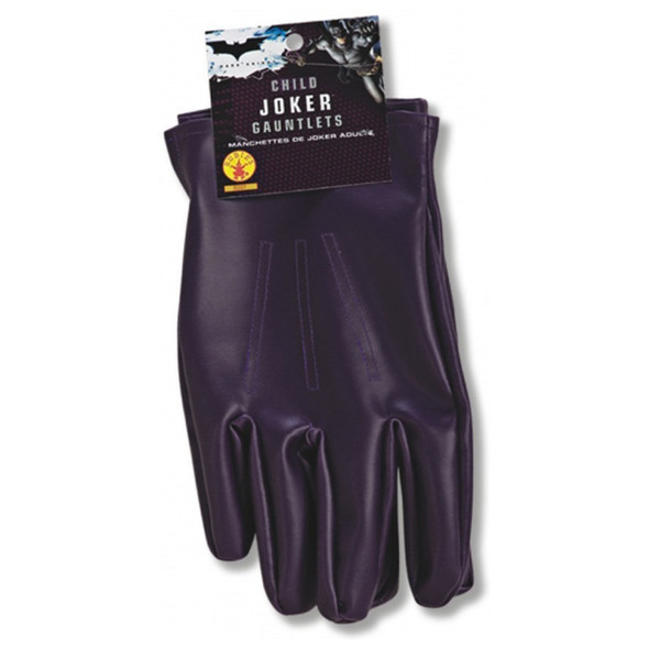 Purple Joker Child Gloves Boy Halloween Costume Prop DC Licensed Batman Pleather