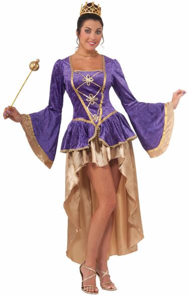 Sexy Medieval Royal Jewel Fancy Dress Costume Adult Womens Halloween Ren Std