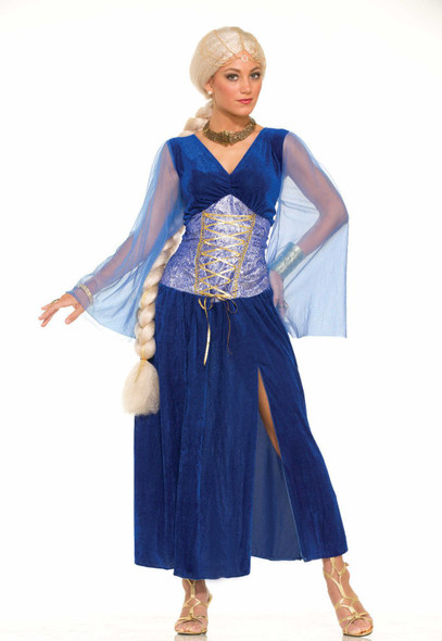 Sapphire Game Of Thrones Medieval Fancy Dress Costume Adult Womens Halloween