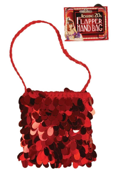 Roaring 20's Spangle Purse Costume Accessory Prop Red Flapper Handbag Women New