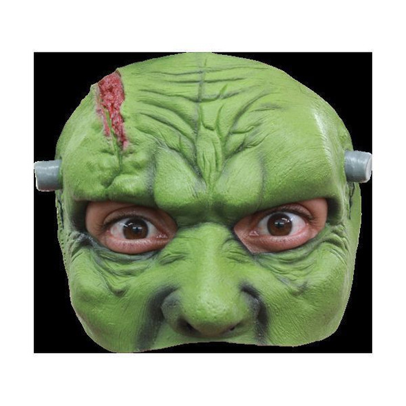 Frankenstein Adult Latex Green Half Mask Franky Monster Green Horror Halloween
