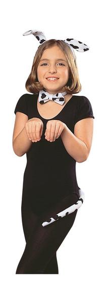 Dalmatian Dog Child Ears Headband Bow Tie Tail Black White Fun Costume Accessory