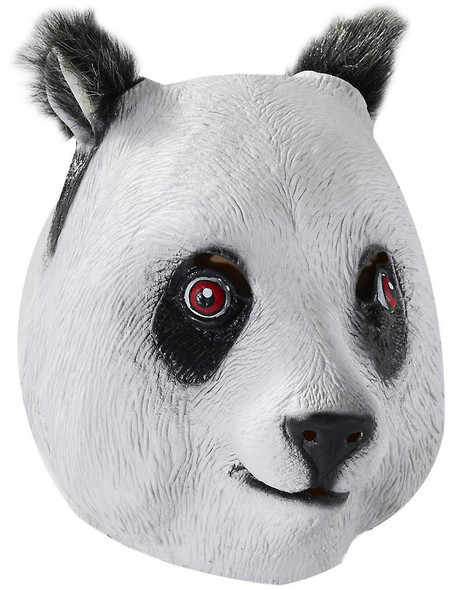 Charming White Panda Bear Mask Adult Latex Costume Accessory Unisex One Size New
