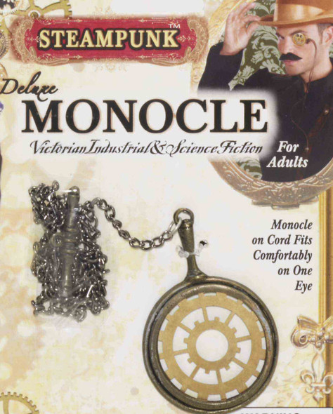 Steampunk Monocle With Chain Mechanical Victorian Industrial Costume Accessory