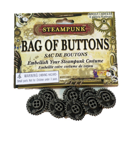 Steampunk Bag of Buttons Victorian Industrial Jewelry Costume Accessory Prop New