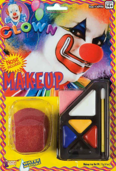 Clown Make up Kit Red Sponge Nose Brush Costume Accessories Water Washable Blue