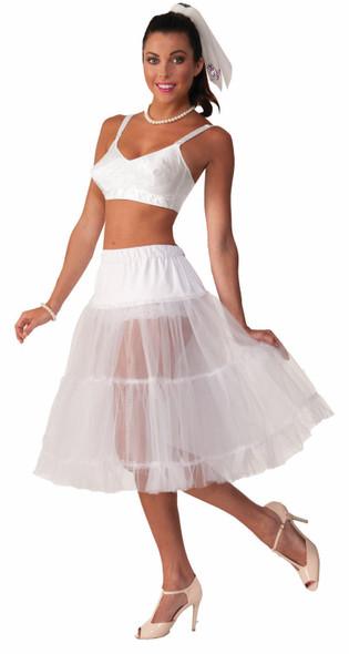 Flirtin' With The 50's Crinoline Skirt Tutu Women White Costume Accessory New