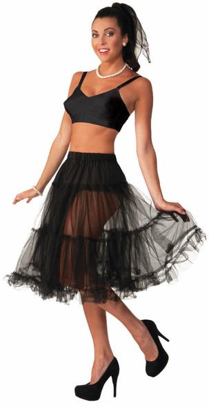 Flirtin' With The 50's Crinoline Skirt Tutu Women Black Costume Accessory New