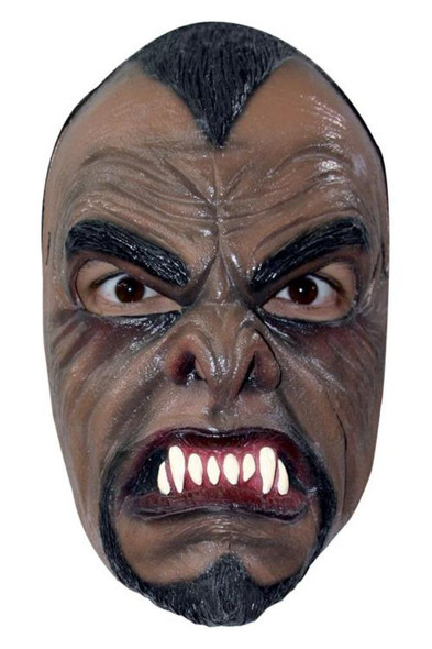 Werewolf Half Mask Latex Fangs Brown Halloween Costume Accessory Wolf Man New