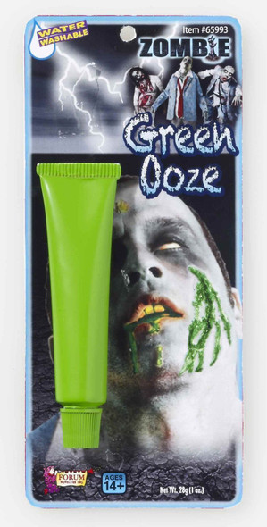 Zombie Green Ooze Makeup Rotten Face Water Washable Halloween Costume Accessory