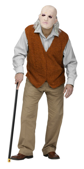 Bad Grandpa Johnny Knoxville Jack Ass Old Geezer Man Adult Costume Standard