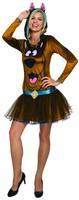 Rubie's Scooby-Doo Women's Costume Hooded Tutu Dress Brown Dog Sizes XS-SM-MD-LG