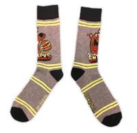 Warner Bros. Scooby Doo Snacks Food Crew Socks Dog Adult Men Sock Size 10-13