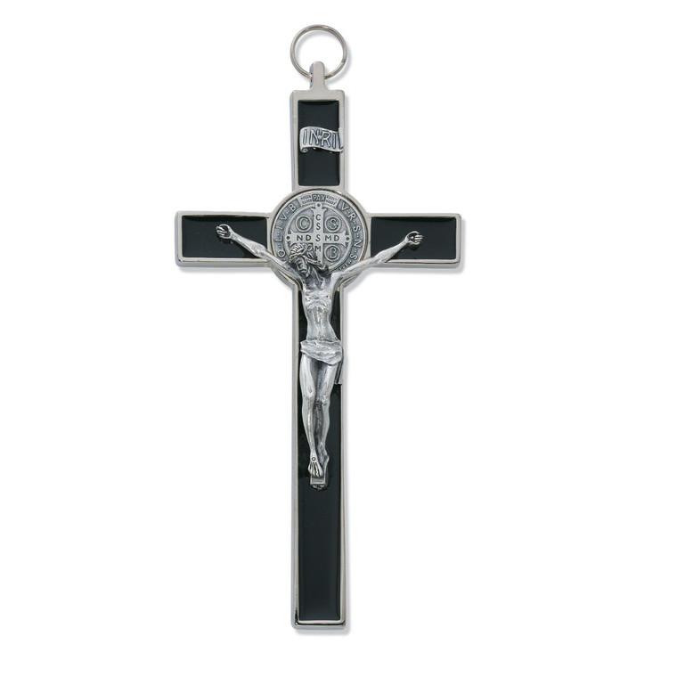 8 in. St. Benedict Crucifix with Epoxy - Gift Boxed