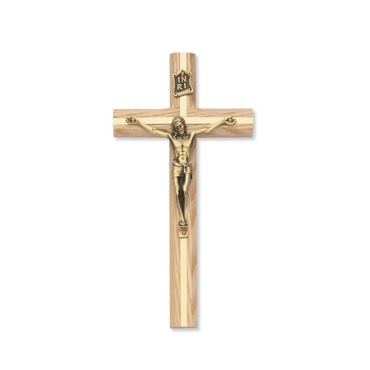 8 in. Oak Crucifix - Gift Boxed
