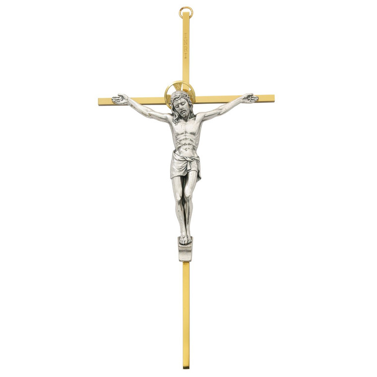 "10"" Brass Crucifix - Gift Boxed"
