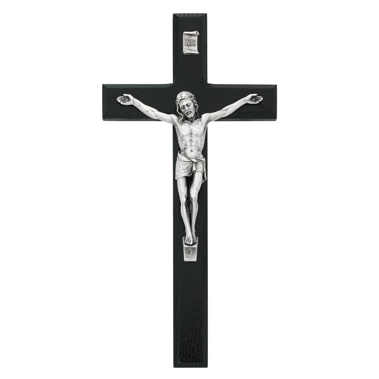 10 in. Black Crucifix - Gift Boxed