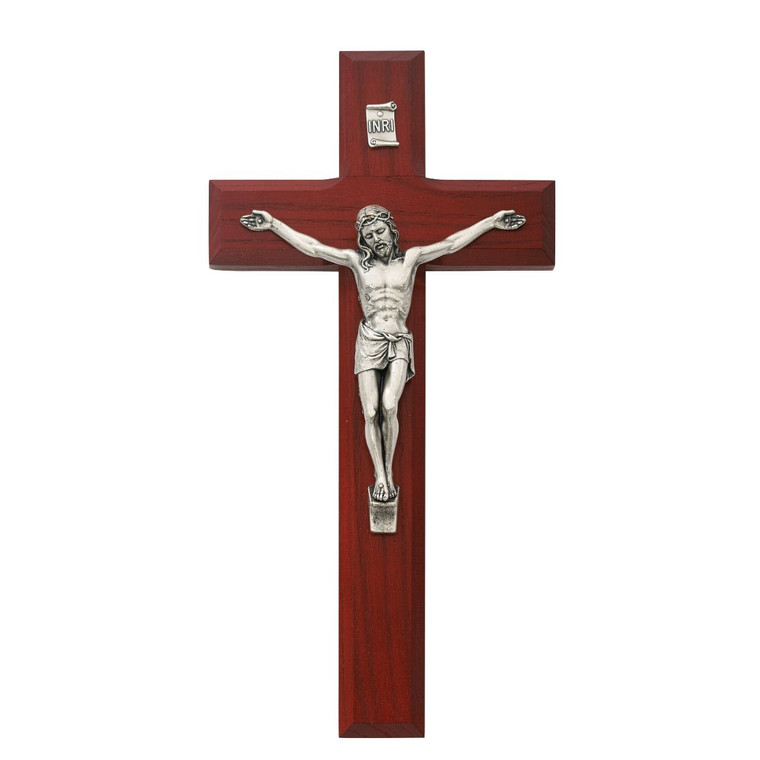 8 in. Cherry Crucifix - Gift Boxed
