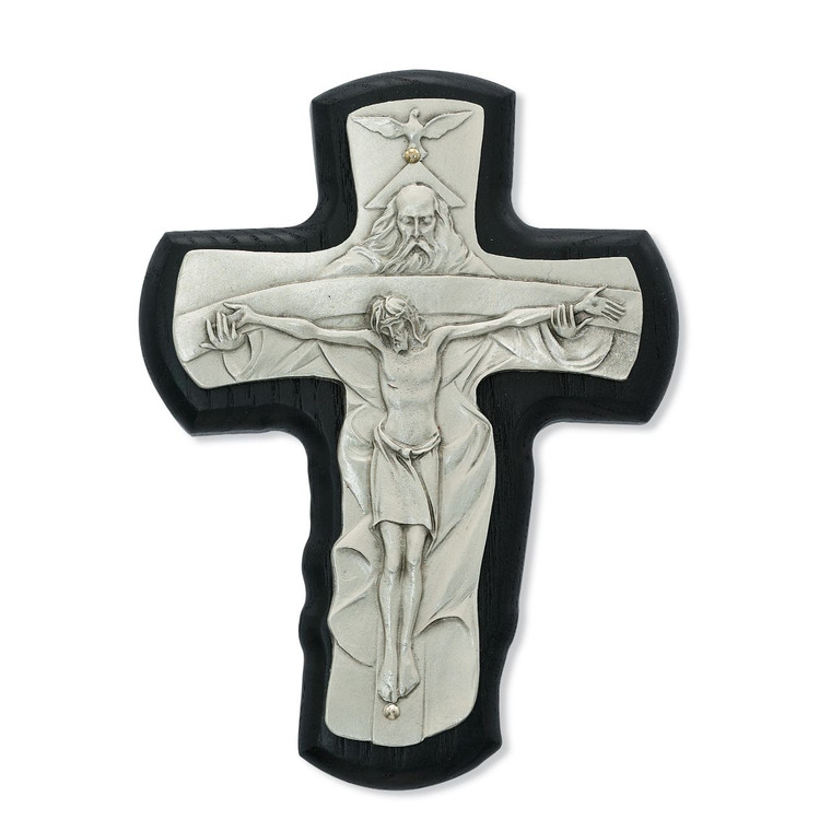 5 1/2 in. Black Trinity Crucifix - Gift Boxed