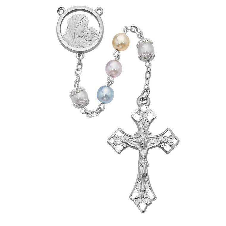 Mother and Child Multi  Rosary - Gift Boxed