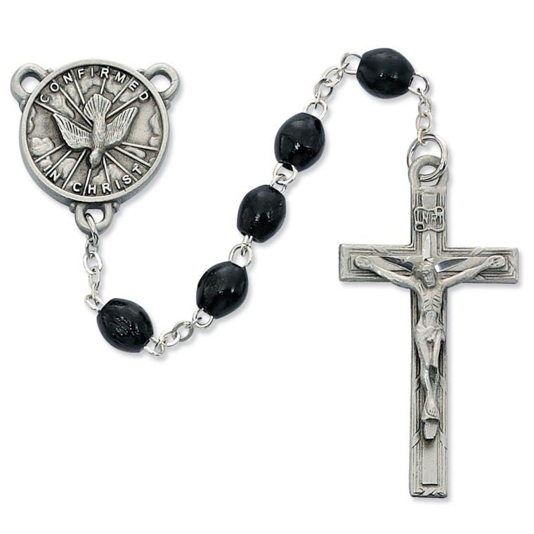 Black Wood Holy Spirit Rosary - Gift Boxed