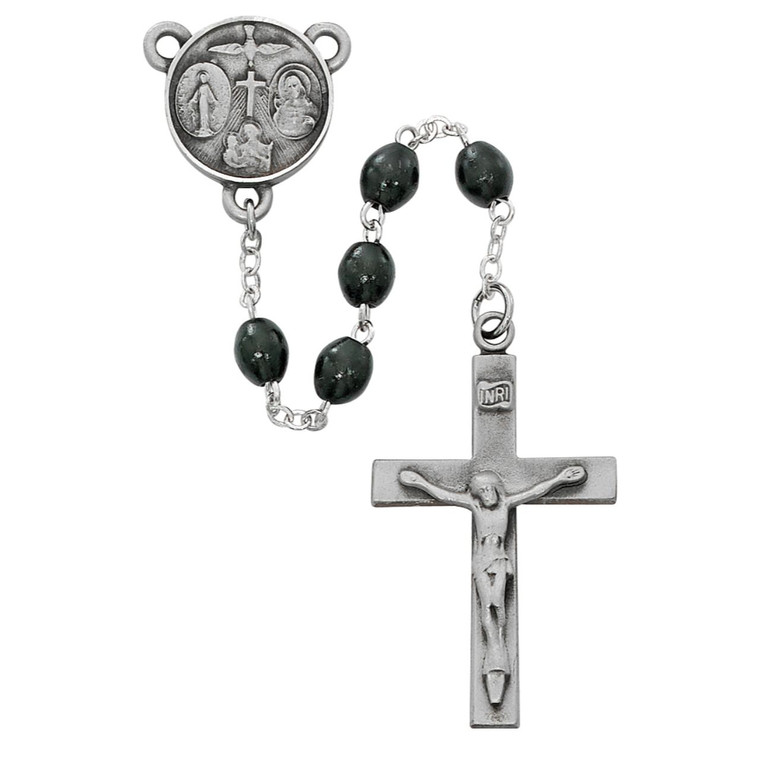 Black Wood Our Father Rosary - Gift Boxed