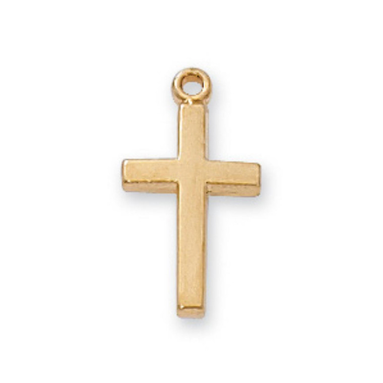 Gold on Sterling Baby Cross - Gift Boxed