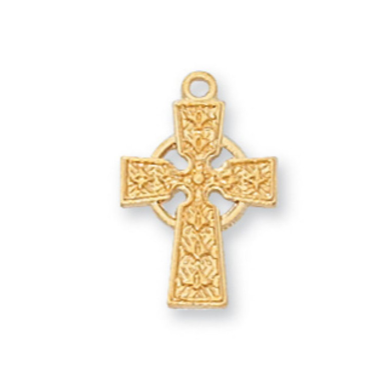 Gold on Sterling Celtic Baby Chain and - Gift Boxed
