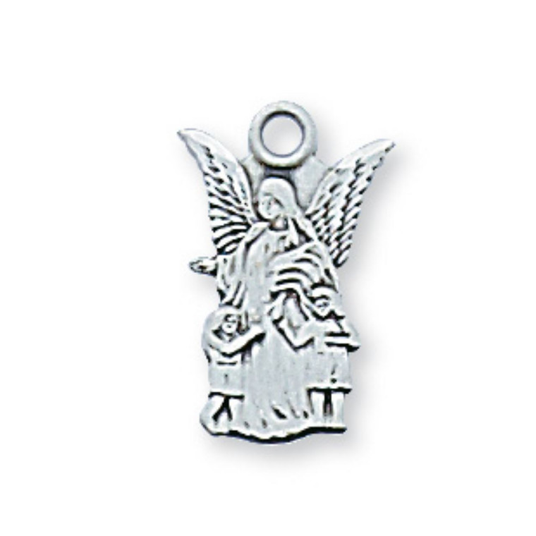 Sterling Guardian Angel Baby Pendant - Gift Boxed