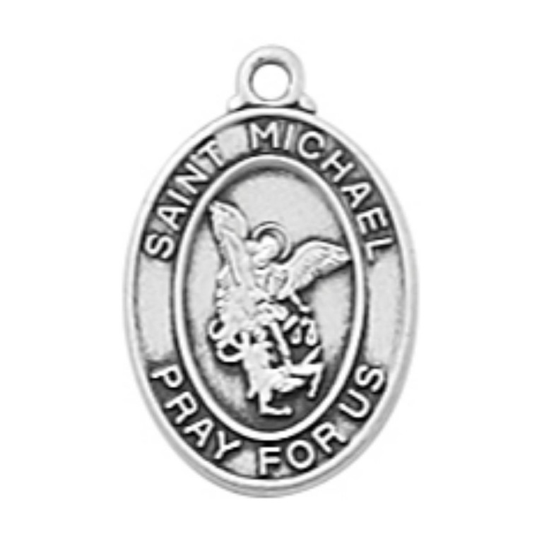 Sterling St Michael Baby Pendant - Gift Boxed