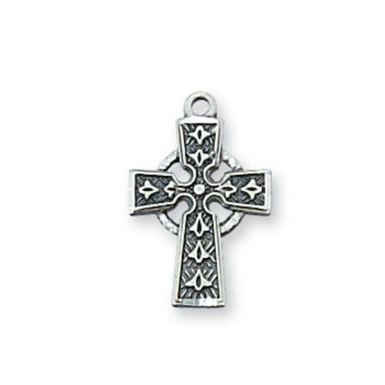 Childrens Sterling Silver Celtic Crucifix Necklace