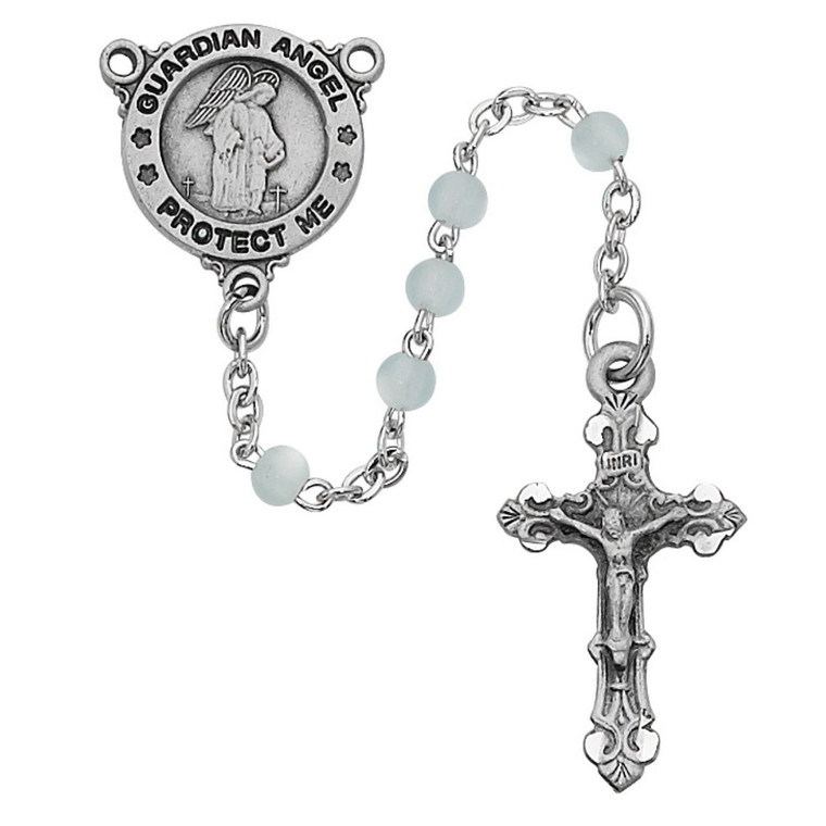 Blue Guardian Angel Youth Rosary - Gift Boxed