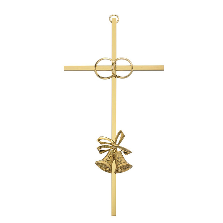 8in 50th Anniversary Brass Cross - Gift Boxed