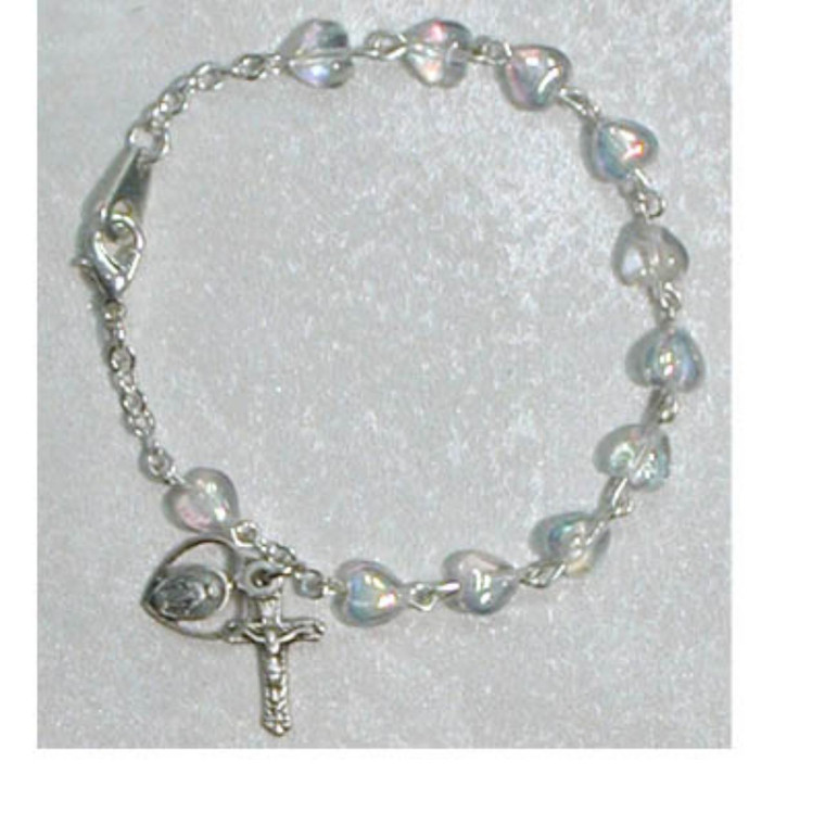 6.5in Aurora Heart Bracelet Sterling Silver - Gift Boxed