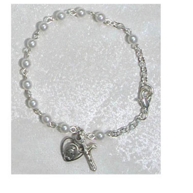 6.5in Pearl Look Bracelet Sterling Silver - Gift Boxed