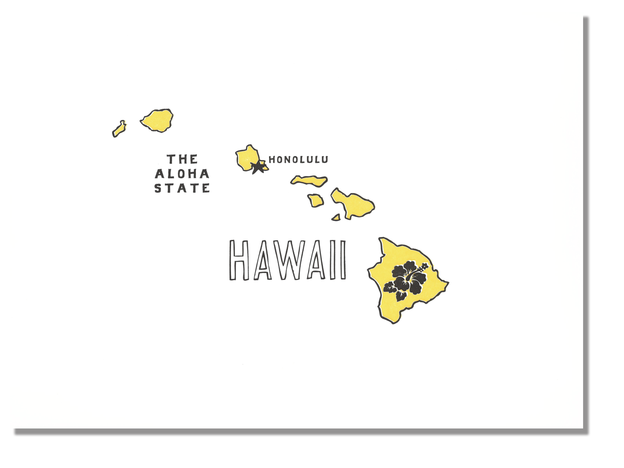 Hawaii State Print: The Aloha State