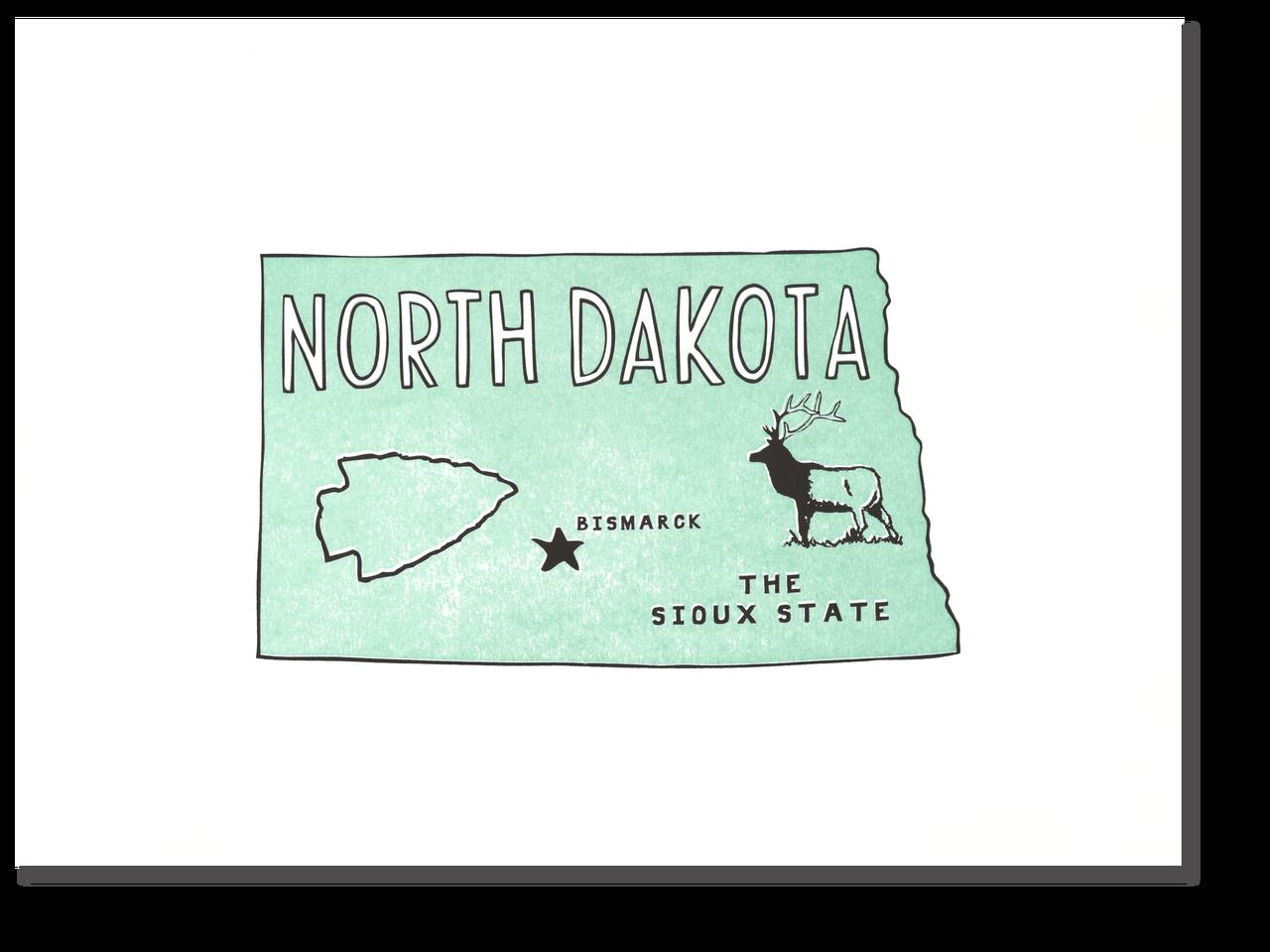 North Dakota State Print: The Sioux State