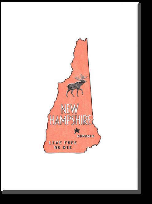 New Hampshire State Print Live Free Or Die Powerandlightpress