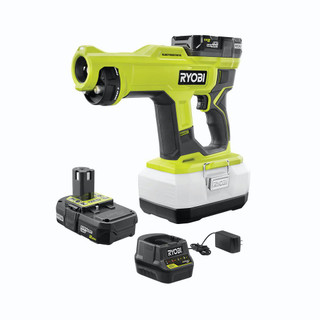 Like New -  RYOBI ONE+ 18-Volt Cordless Handheld Electrostatic Sprayer Kit with (2) 2.0 Ah Batteries and Charger