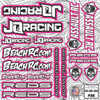 DG Designs JQ Racing Decal Sheet (Pink)