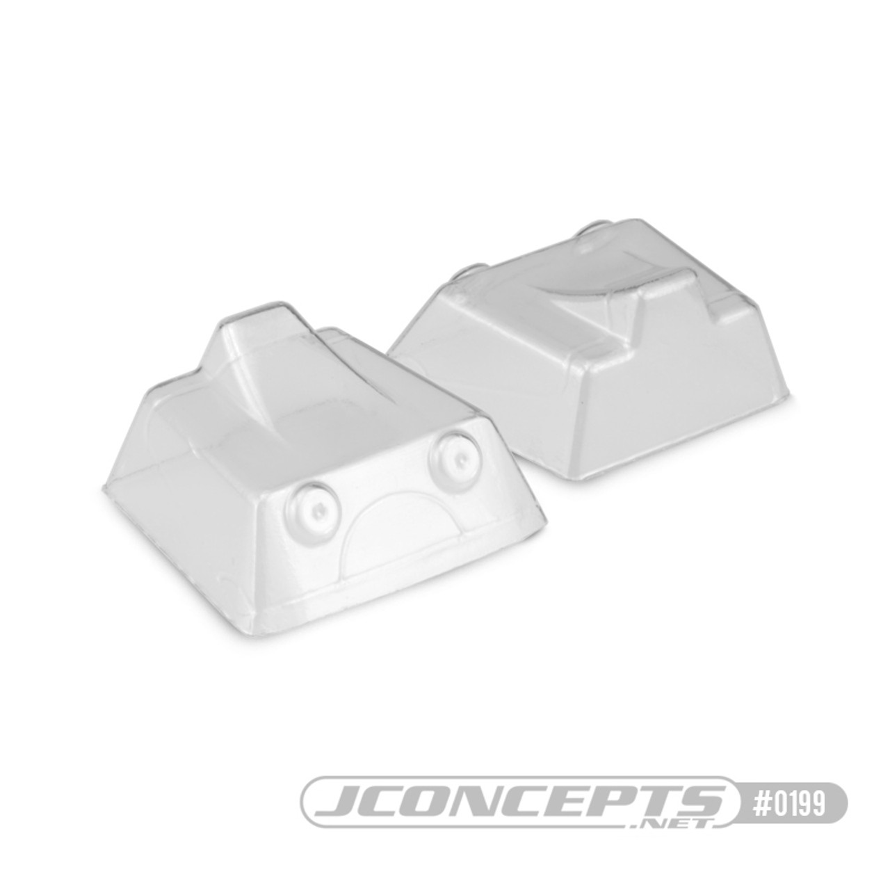 JConcepts JQ Racing Black and Grey Edition front scoop (2pc)