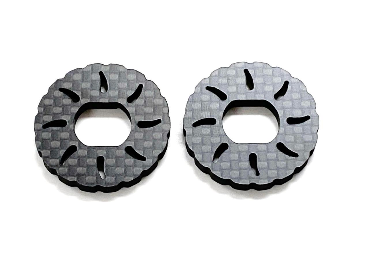 Assault RC Carbon Fiber Vented Brake Rotor Set (2pcs) for JQ Racing Black Edition (ARC91005)