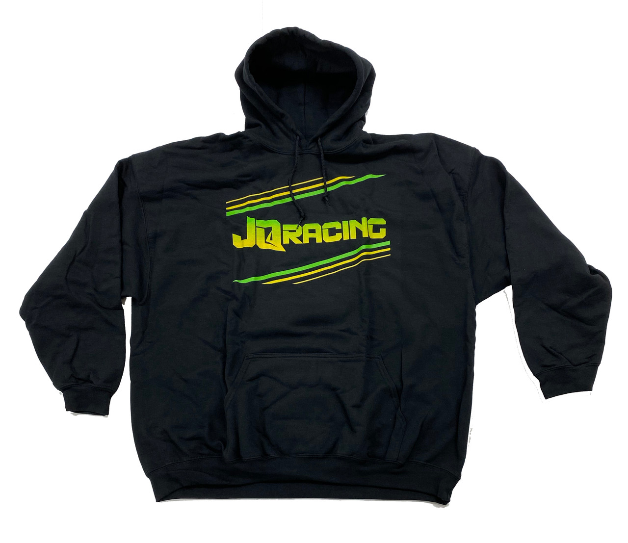 2020 JQ Racing Hooded Sweatshirt (Black) (JQ2020H)