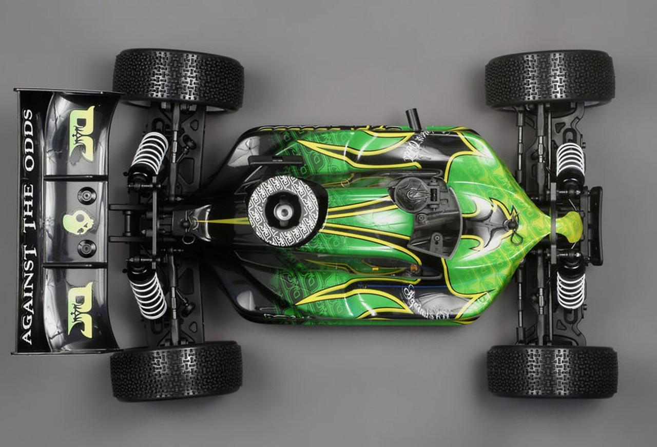 JQRacing THECar RTR Nitro Green Body (JQR0001)  Top down view