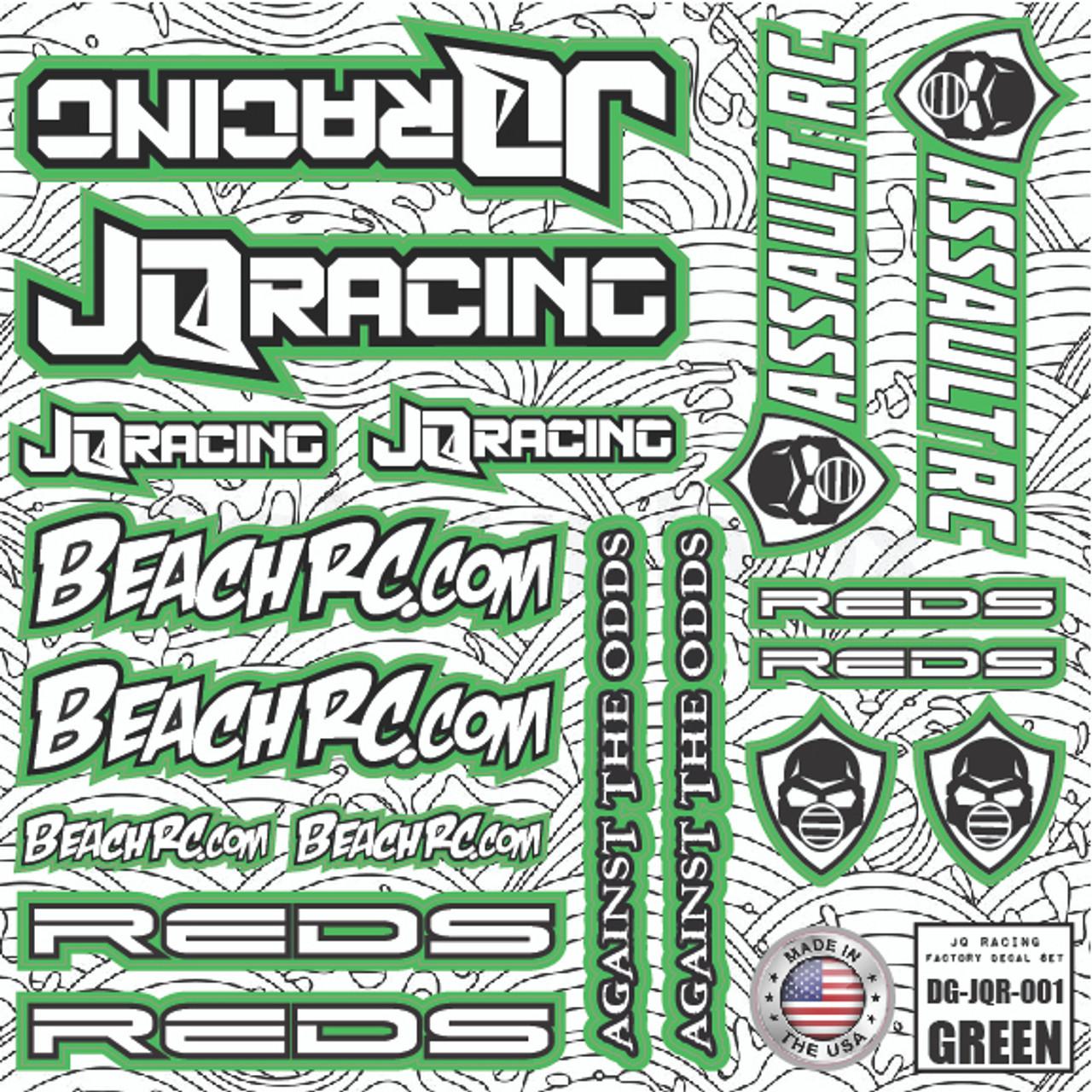 DG Designs JQ Racing Decal Sheet (Green)
