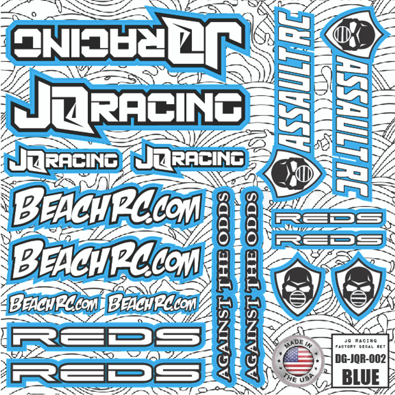 DG Designs JQ Racing Decal Sheet (Blue)