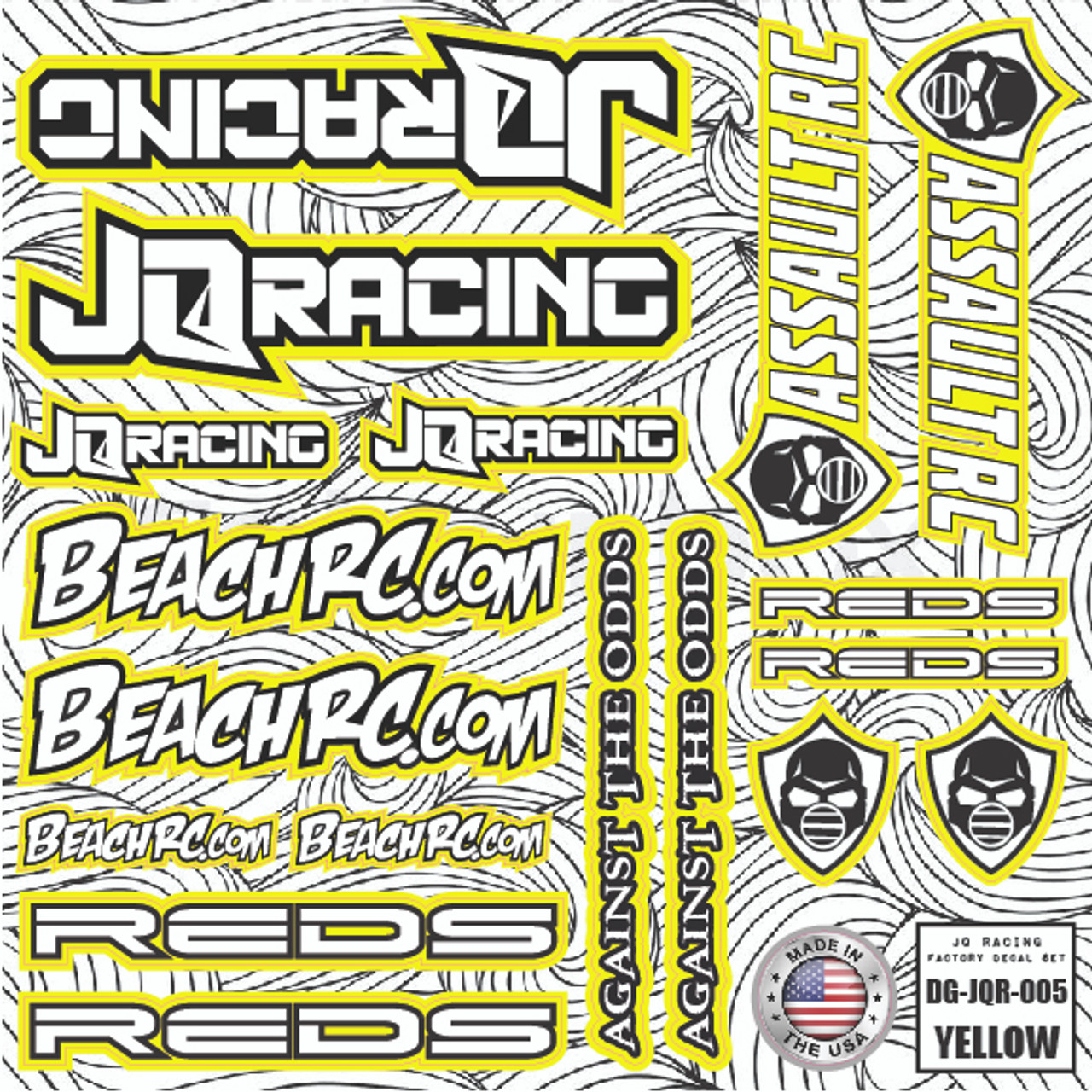 DG Designs JQ Racing Decal Sheet (Yellow)