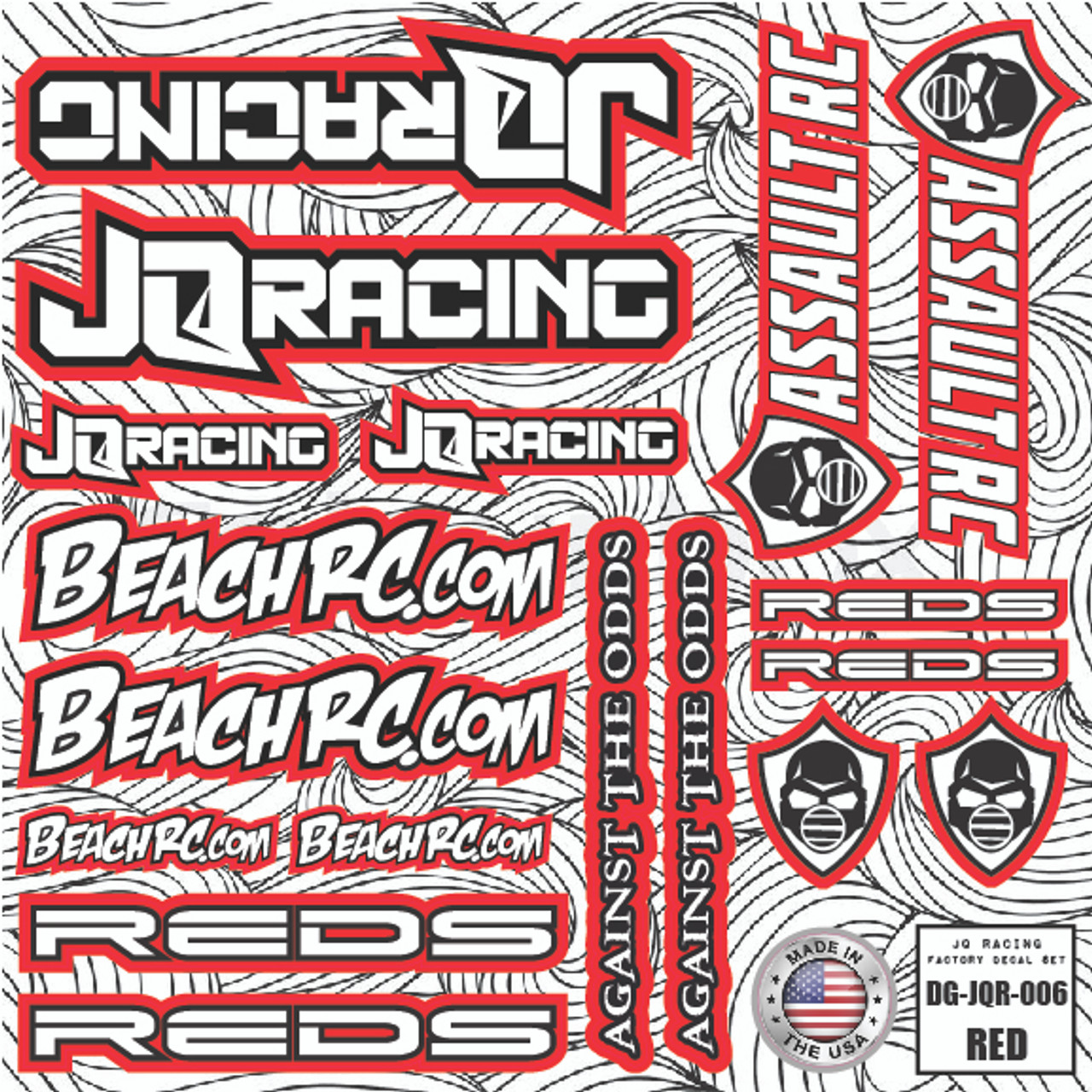 DG Designs JQ Racing Decal Sheet (Red)